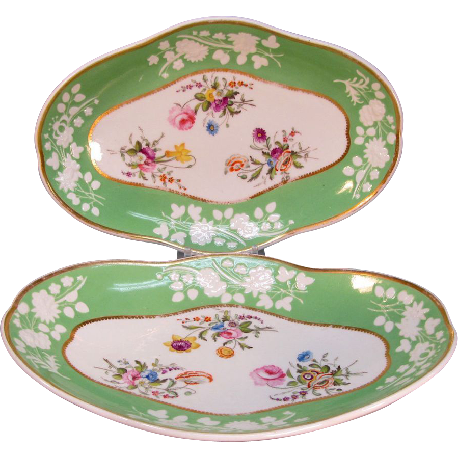 Pair Spode Dishes circa 1805-10