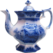 Flow Blue Amoy Teapot