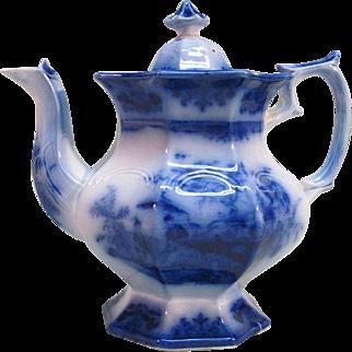 Flow Blue Amoy Teapot