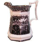 "Mulberry Ironstone ""Washington Vase"" Pitcher"