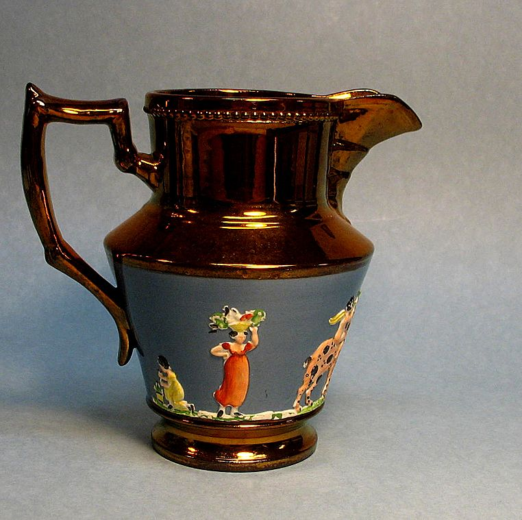 Copper Luster Pitcher ca. 1850