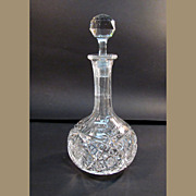 American Brilliant Period Cut Glass Decanter ca. 1900
