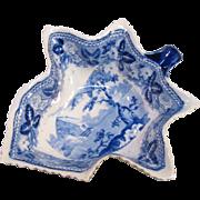 Staffordshire Pearlware Leaf Form Pickle Dish ca. 1825