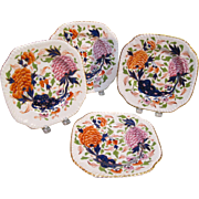 "Four Square English Porcelain ""Japan""  Cake Plates ca. 1835"