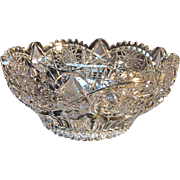 Heavy ABP Pairpoint Clifton Cut Glass Bowl circa 1900