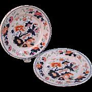 "Two Tonquin ""Stone China"" Plates ca. 1825"