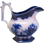 Flow Blue Ironstone Creamer ca. 1855