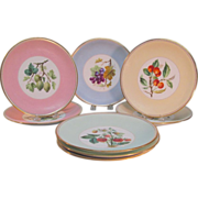 Set of 8 Minton Cabinet Plates ca. 1885