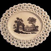 Wedgwood Creamware Lattice Edge Tray ca. 1780