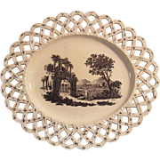 Wedgwood Creamware Lattice Edge Tray ca. 1780