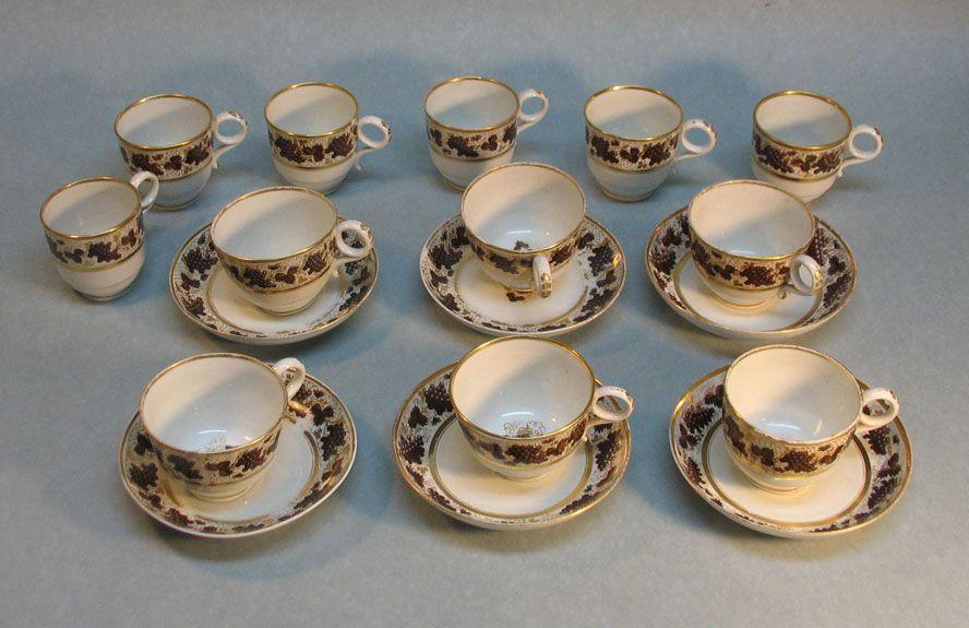 "Six Barr Period Worcester Porcelain ""Trios"" circa. 1800"