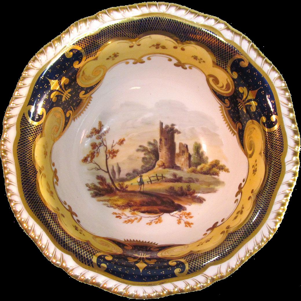 H & R Daniel Scenic View Bowl ca. 1830