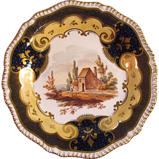 H & R Daniel Scenic View Plate ca. 1830