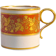 Worcester Porcelain Coffee Cup or Can circa 1805