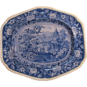 "Ridgway ""Asiatic Palaces"" Platter ca. 1835"