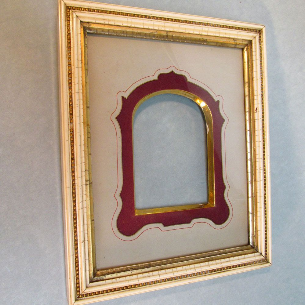 victorian frame with gilt edge mat from forthillstudios on