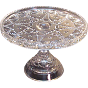 "Festoon Pattern Glass 9"" Cake Stand ca. 1890"