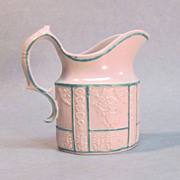 Patriotic Motif Felspathic Stoneware Creamer circa 1810
