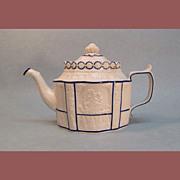 White Felspathic Stoneware Teapot circa 1810
