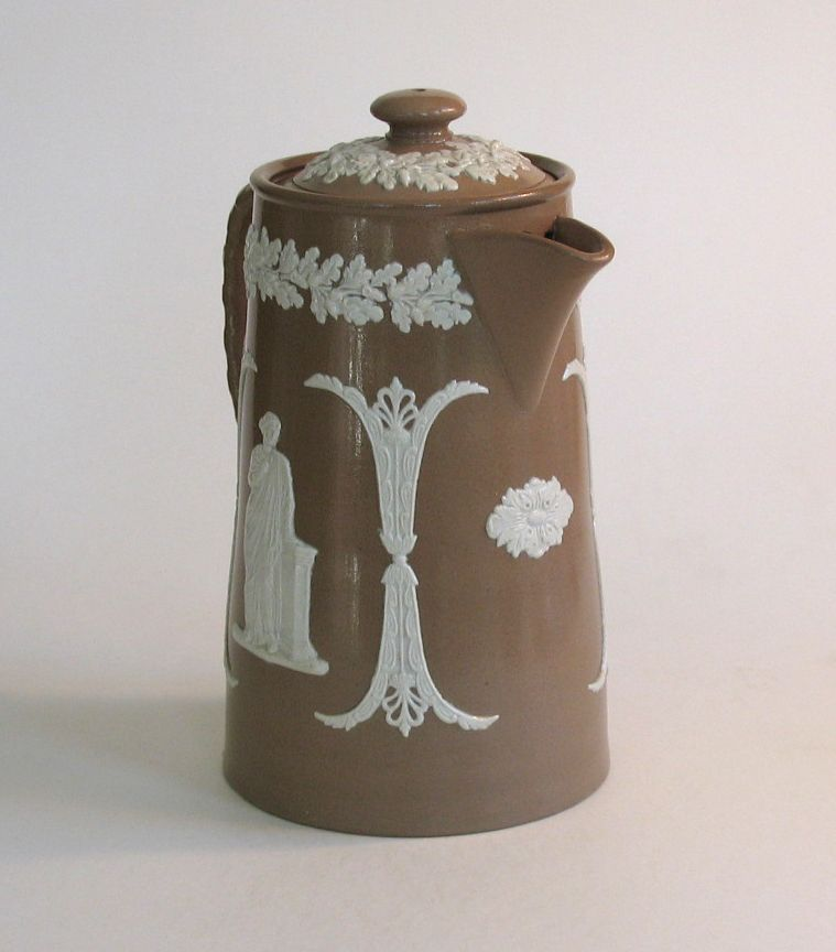 Brown Jasperware Pitcher, James Dudson circa 1890