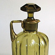Amber and Gilt Glass Decanter