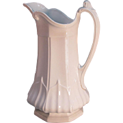 "White Ironstone Wash Pitcher ""Sydenham"" ca. 1855"