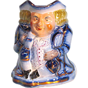 Victorian Toby Jug with Copper Luster