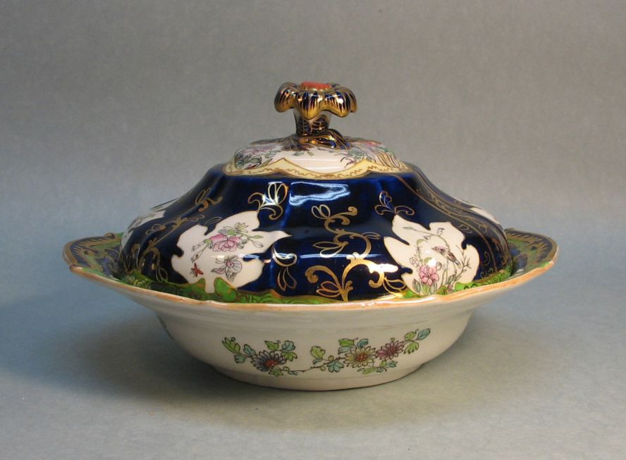 Nineteenth Century Mason's Ironstone Covered Dish