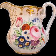 English Porcelain Presentation Pitcher ca. 1845-55