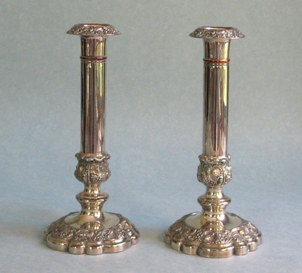 Antique Sheffield Plate Candlesticks
