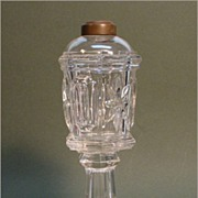 Flint Glass Whale Oil Lamp ca. 1850