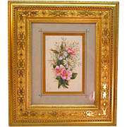 Victorian Watercolor Floral in Gilt Frame ca. 1875