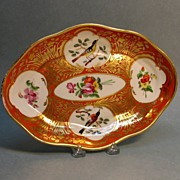 Nineteenth Century Porcelain Dish with Bird Scenes