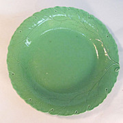 Staffordshire Green Glazed Plate ca. 1815