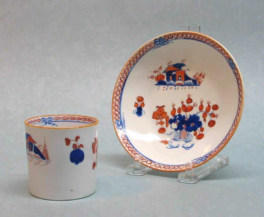 New Hall Porcelain Cup and Saucer