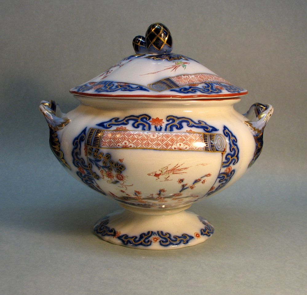 Decorated Ironstone Soup Tureen ca. 1850