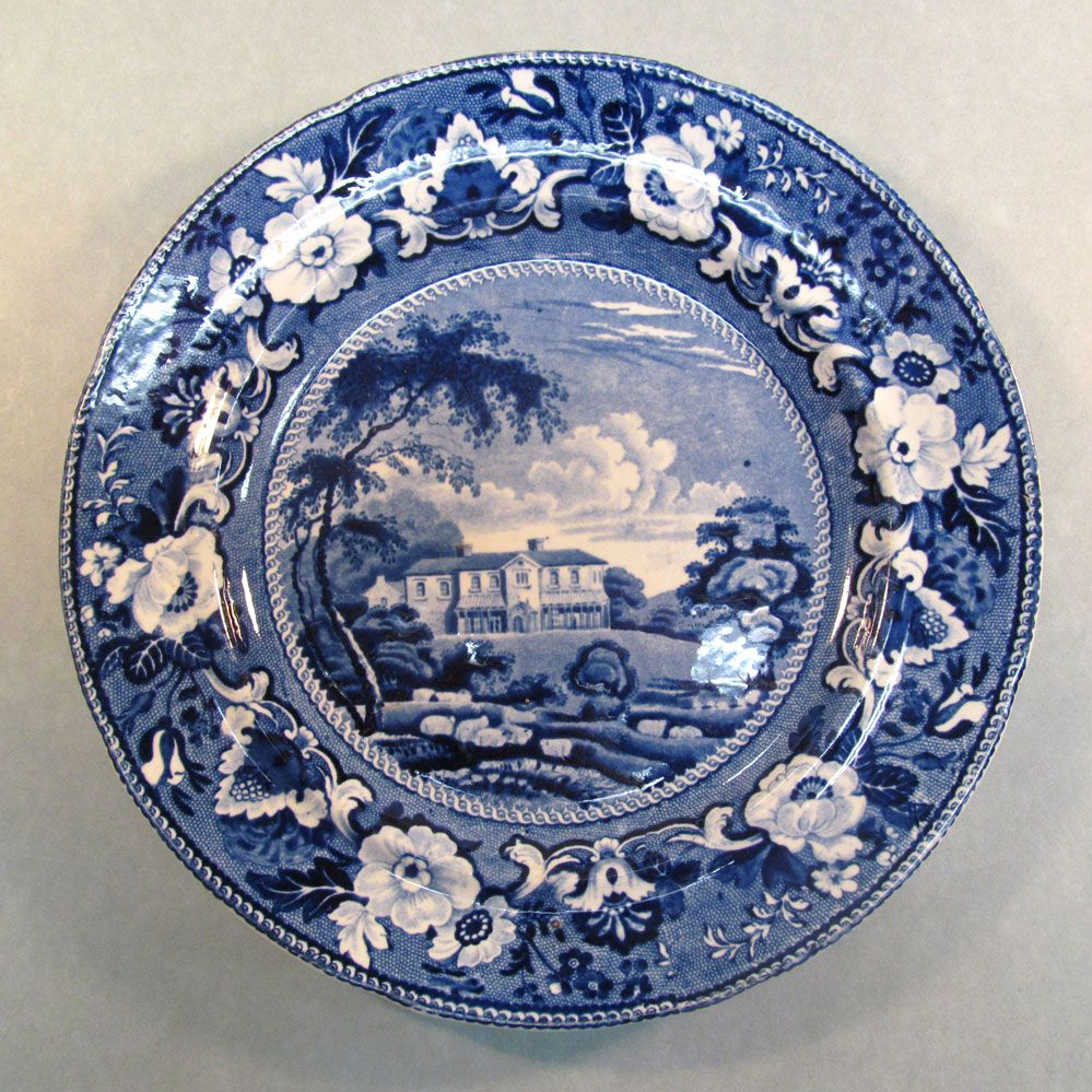 "Adams Blue Transfer Plate ""Gracefield, Ireland"""