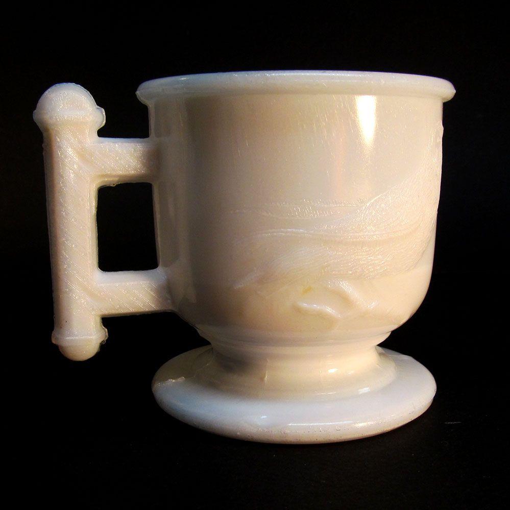 Atterbury Milk Glass Mug ca. 1885
