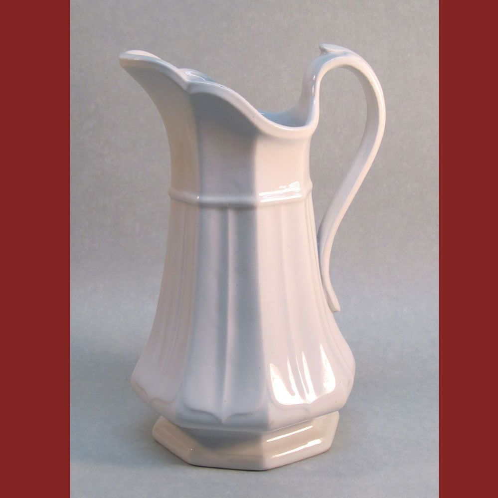 White Ironstone Boote's 1851 Pitcher (Ewer)