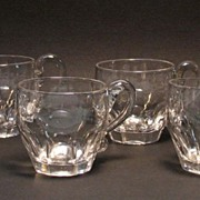Six Blown and Cut Punch Cups ca. 1845