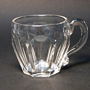 Flint Punch Cup with Applied Handle ca. 1845-55