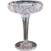 Brilliant Cut Glass Compote ca. 1900