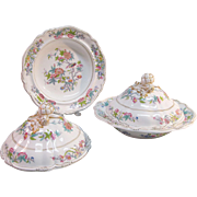 "Pair Minton ""Felspar Porcelain"" Covered Dishes  ca 1840"