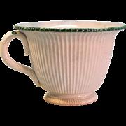 "Pearlware ""Leeds"" Handled Custard ca. 1790"