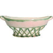 """Leeds"" Creamware Basket ca 1810"