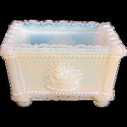 New England Glass Company Opalescent White Salt ca, 1830