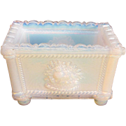 New England Glass Company Opalescent White Salt ca, 1830