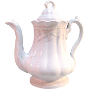 "White Ironstone ""Ceres"" Tea Pot ca. 1865"
