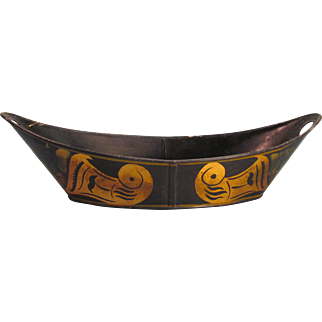 Oval Tole Bowl