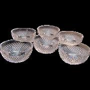 Six Cut Glass Bowls ca. 1900